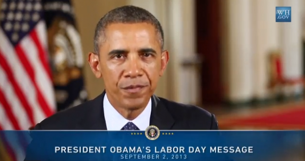 Obama Labor Day Message
