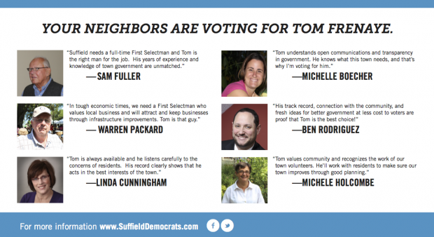 Your neighbors are voting for Tom Frenaye. Here's why...